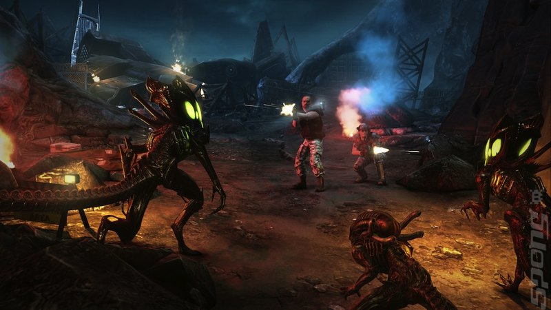 The Lighting of Aliens: Colonial Marines Editorial image