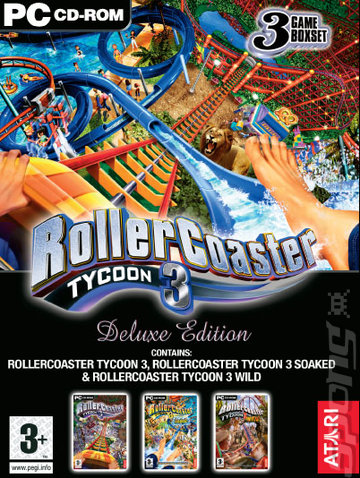 Rollercoaster Tycoon 3 Deluxe Edition - PC Cover & Box Art