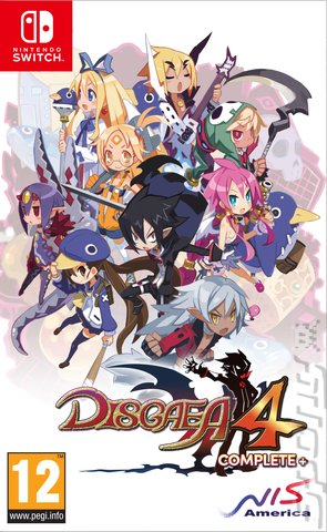 Disgaea 4 Complete+: Promise of Sardines Edition - Switch Cover & Box Art