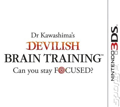 Dr. Kawashima's Devilish Brain Training: Can You Stay Focused? - 3DS/2DS Cover & Box Art