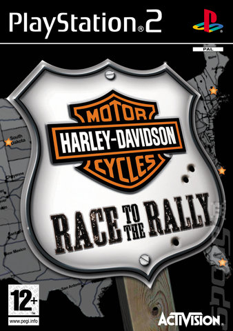 Harley Davidson: Race to the Rally - PS2 Cover & Box Art