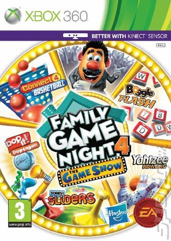Hasbro Family Game Night 4: The Game Show - Xbox 360 Cover & Box Art