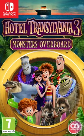 Hotel Transylvania 3: Monsters Overboard - Switch Cover & Box Art