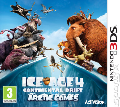 Ice Age 4: Continental Drift: Arctic Games - 3DS/2DS Cover & Box Art