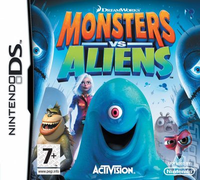 Monsters Vs Aliens - DS/DSi Cover & Box Art
