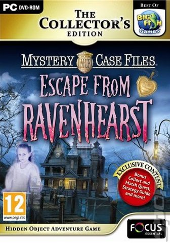 Mystery Case Files: Escape from Ravenhearst - PC Cover & Box Art