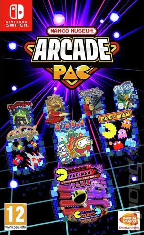 NAMCO MUSEUM ARCADE PAC - Switch Cover & Box Art