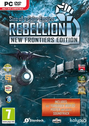 Sins of a Solar Empire: Rebellion: New Frontiers Edition - PC Cover & Box Art