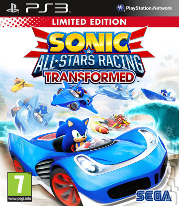 Sonic & All-Stars Racing Transformed - PS3 Cover & Box Art
