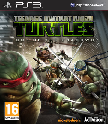 Teenage Mutant Ninja Turtles: Out of the Shadows - PS3 Cover & Box Art