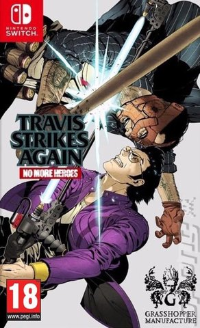 Travis Strikes Again: No More Heroes - Switch Cover & Box Art