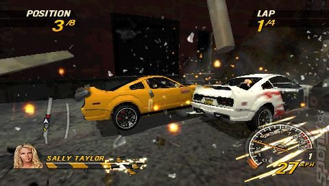 FlatOut: Head On - PSP Screen