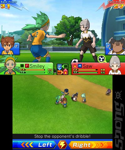 Inazuma Eleven GO Chrono Stones: Thunderflash - 3DS/2DS Screen