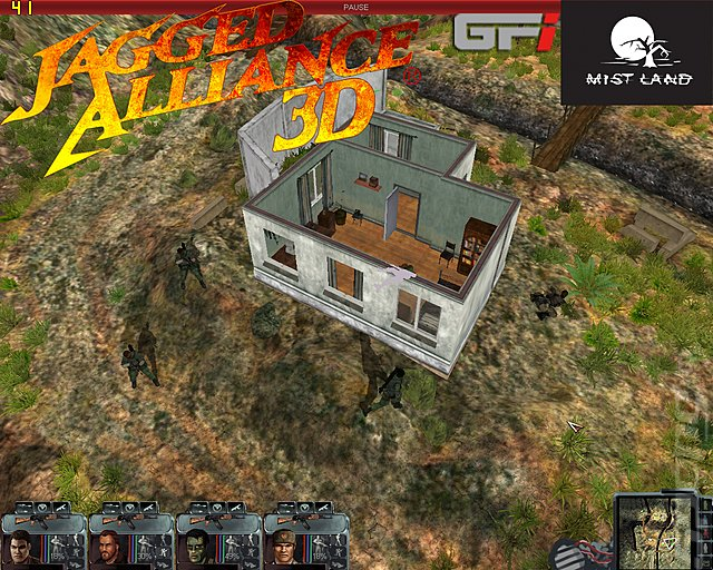 Jagged Alliance 3D - PC Screen
