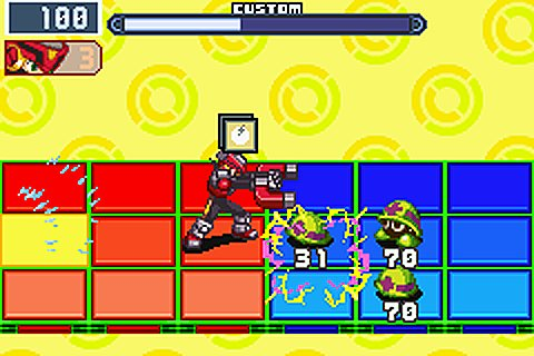 Mega Man Battle Network 5 - Team Colonel - GBA Screen
