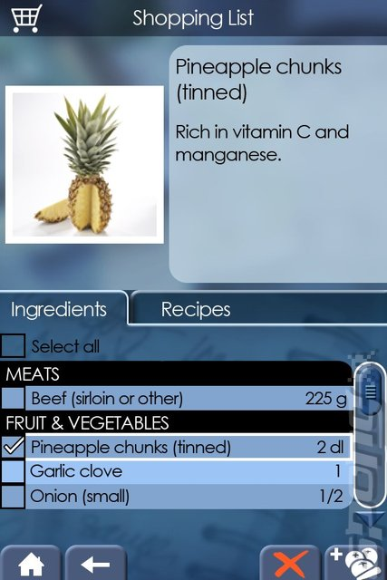 My Cooking Coach: Prepare Healthy Recipes  - DS/DSi Screen