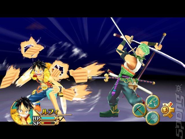 One Piece Unlimited Cruise 1: The Treasure Beneath the Waves - Wii Screen