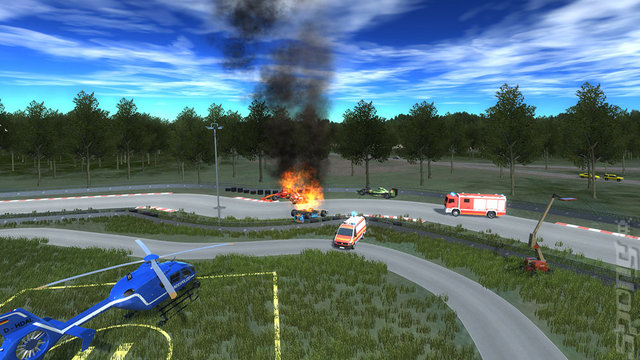 Police Helicopter Simulator - PC Screen