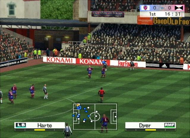 Pro Evolution Soccer 4 - PS2 Screen
