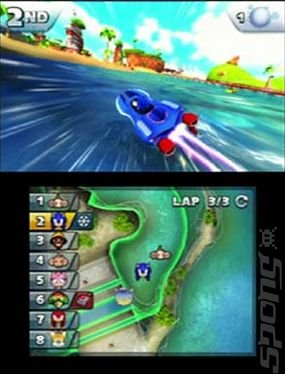 Sonic & All-Stars Racing Transformed - 3DS Screen