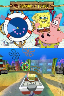 SpongeBob's Atlantis Squarepantis - DS/DSi Screen