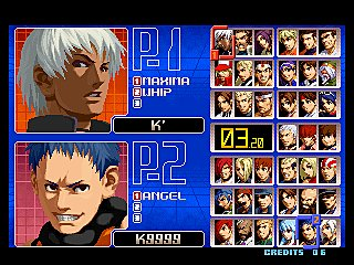 The King of Fighters 2002 & 2003 - Xbox Screen