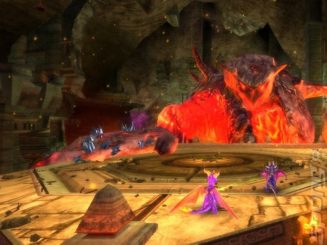 The Legend Of Spyro: Dawn Of The Dragon - Wii Screen