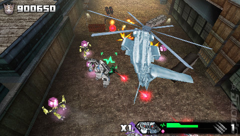 Transformers: Revenge of the Fallen  - PSP Screen