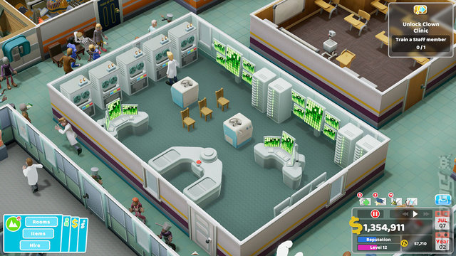 Two Point Hospital - Switch Screen