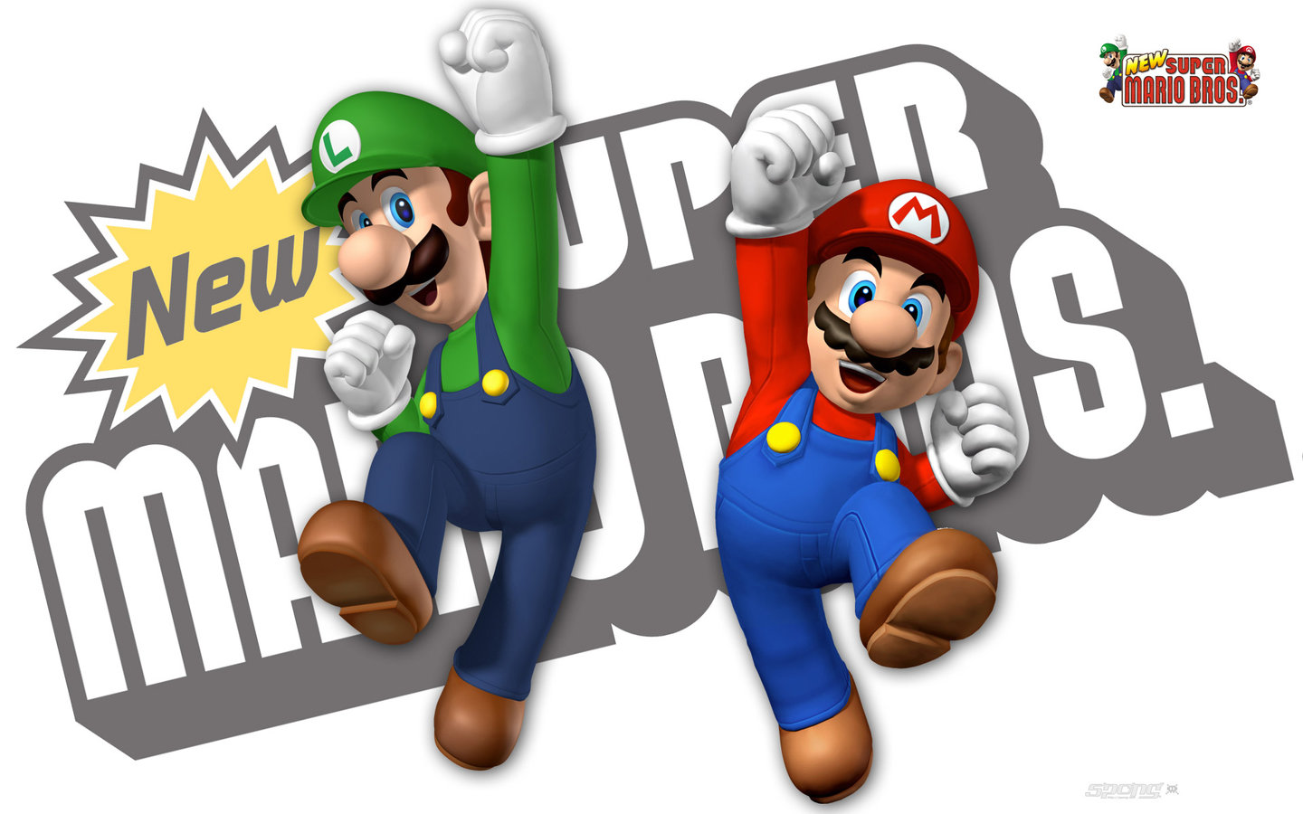 Wallpapers New Super Mario Bros Ds Dsi 1 Of 2